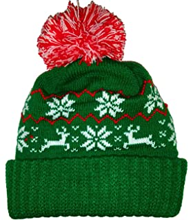 25e8b91e70c Amazon.com  Black Humping Sex Reindeer Snowflake Winter Beanie Pom ...