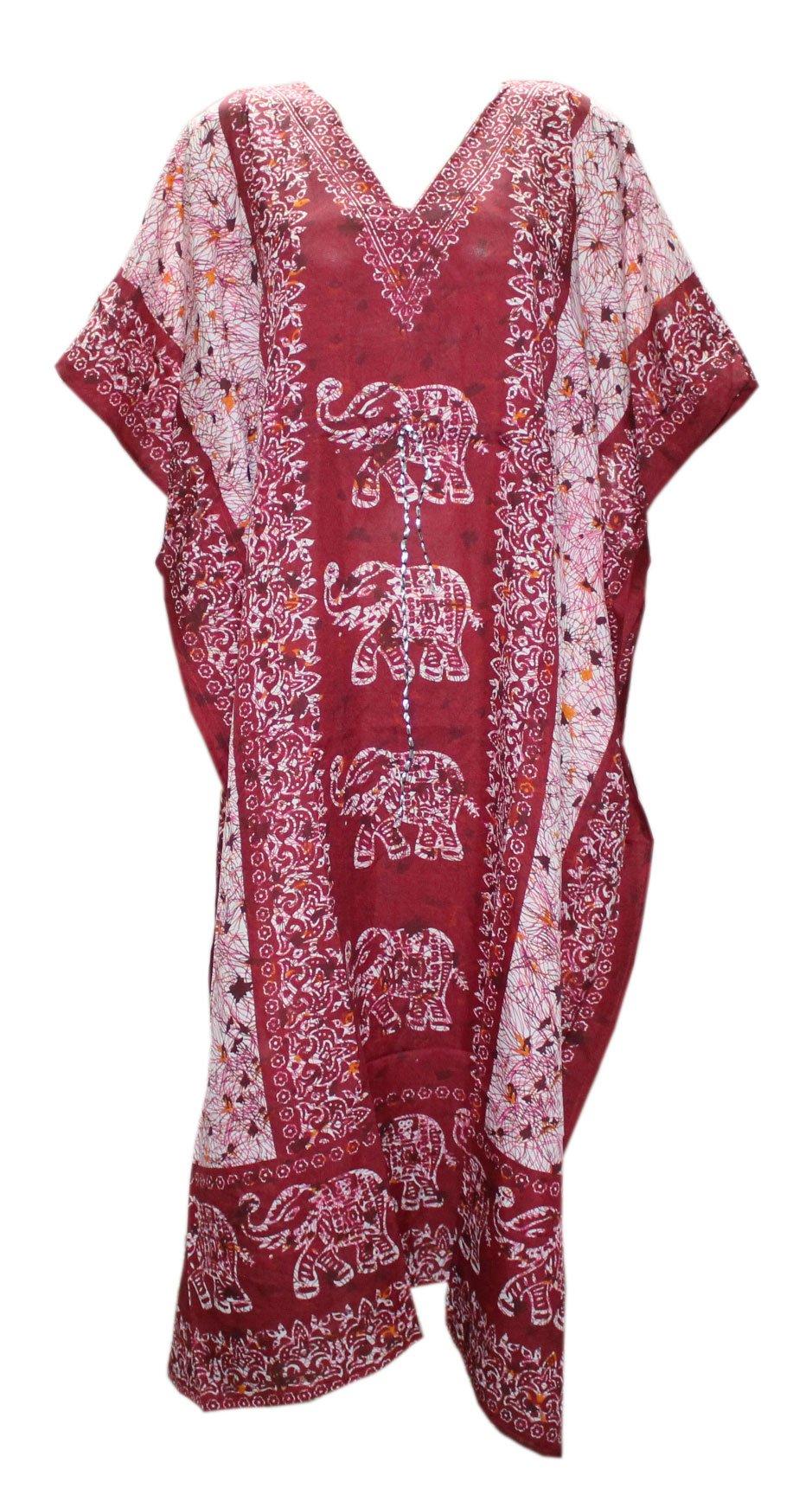 Odishabazaar Kaftan Tunic Kimono Dress Ladies Summer Women Evening Maxi Party One Size (Multi-6)
