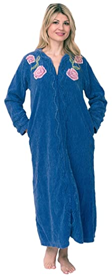 cute cheap 60% discount big discount of 2019 Bath & Robes Women's Full Length 100% Cotton Chenille Robe