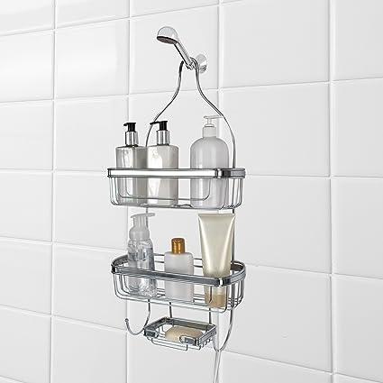 Amazon.com: Splash Home Shower Caddy Bathroom Door Or Hanging Head ...