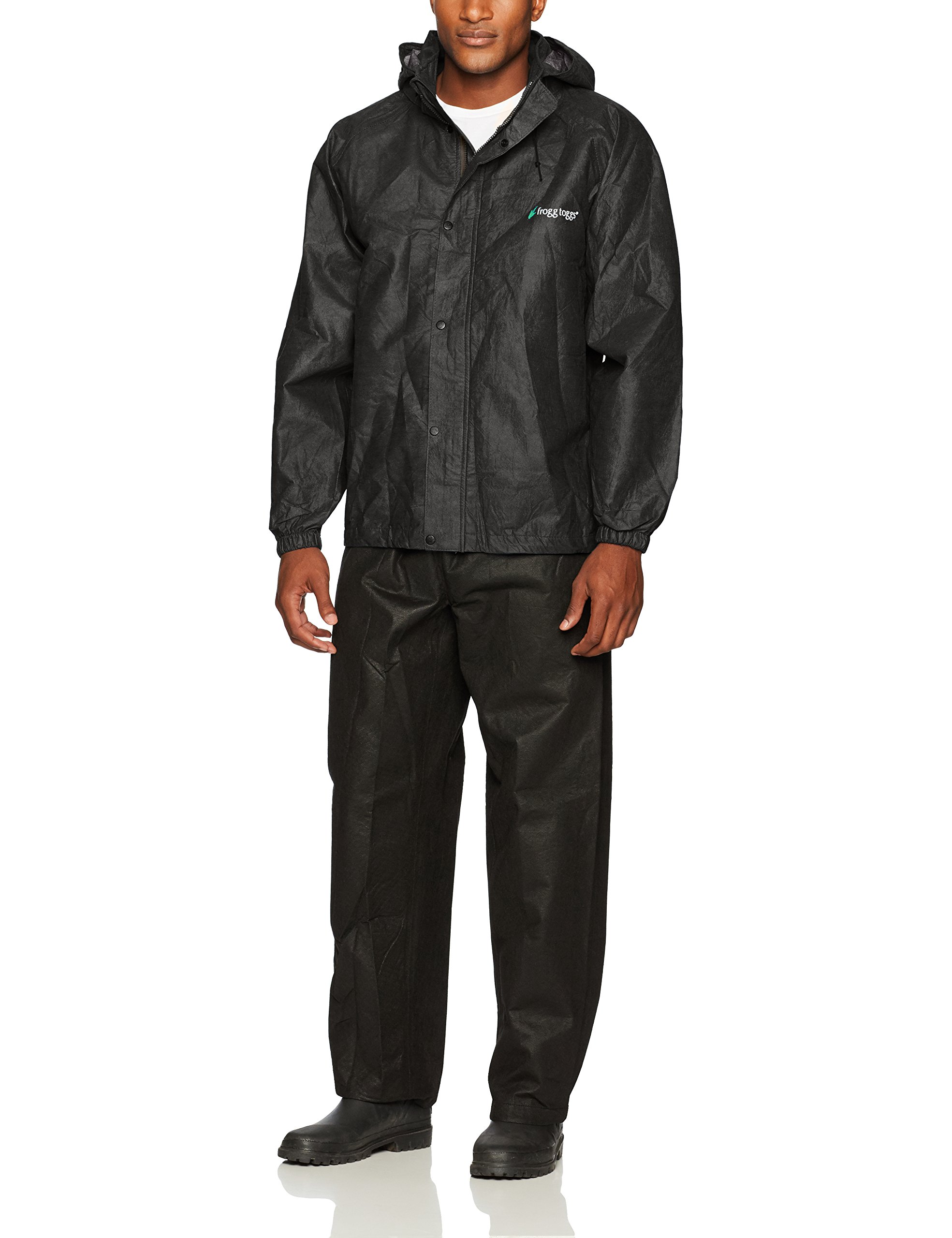 Frogg Toggs All Sport Rain Suit, Black Jacket/Black Pants, Size X-Large by Frogg Toggs