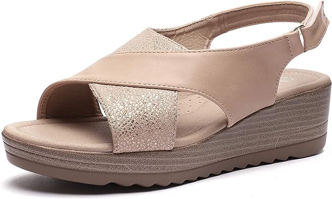 CINAK Women Platform Wedge Sandals