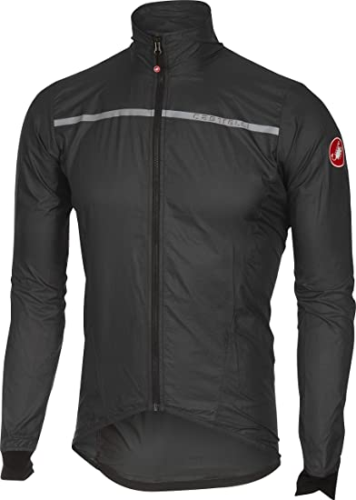 Castelli Squadra ER Mens Cycling Rain Jacket Black