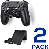 Brainwavz PS4 Game Controller Wall Hanger Stand Mount Holder (2 Pack) - Playstation 4 Game Controller Accessories Black Black