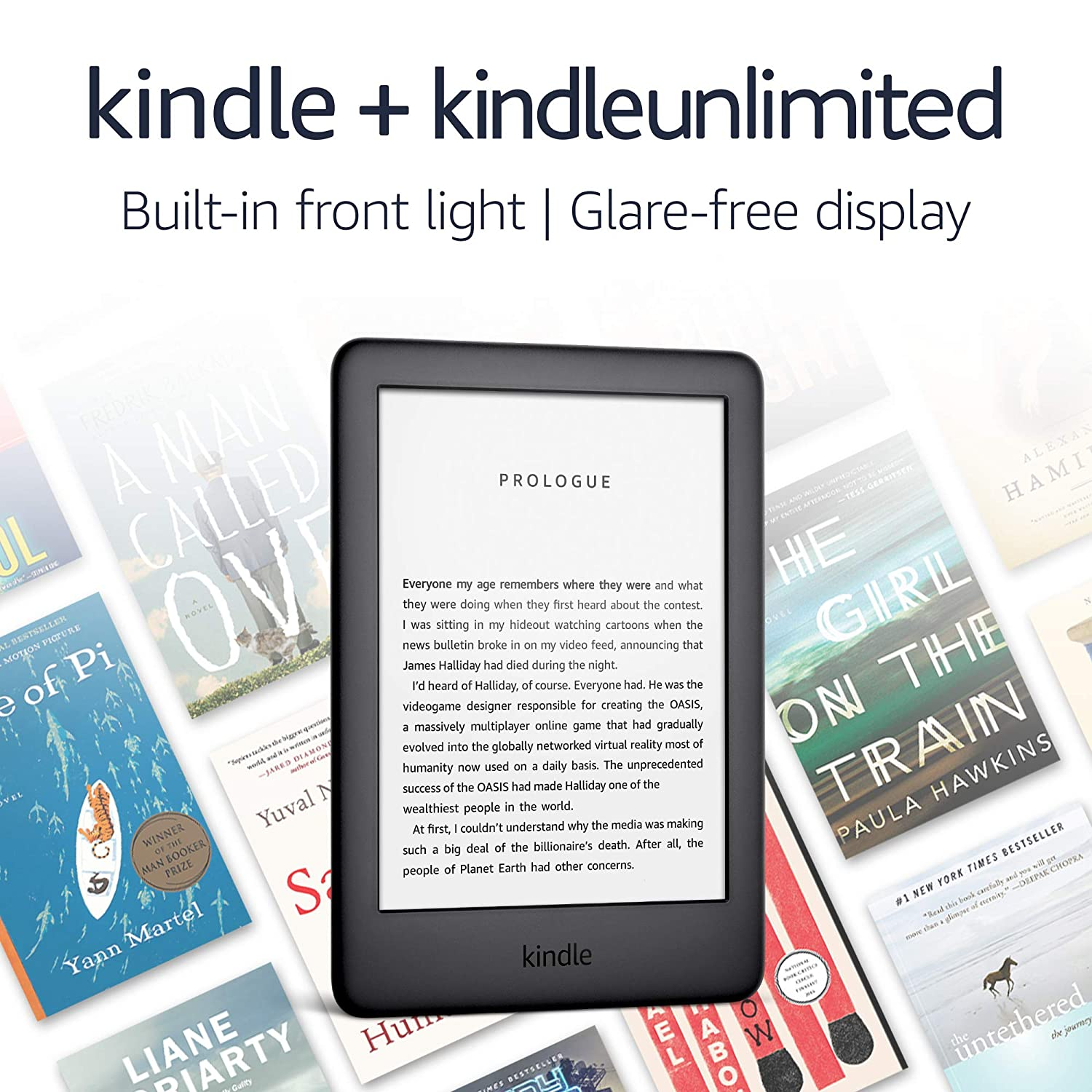 Kindle - 4 GB, Wi-Fi - Includes Special Offers + Kindle Unlimited