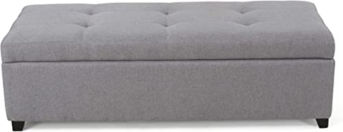 Christopher Knight Home Brentwood Fabric Storage Ottoman