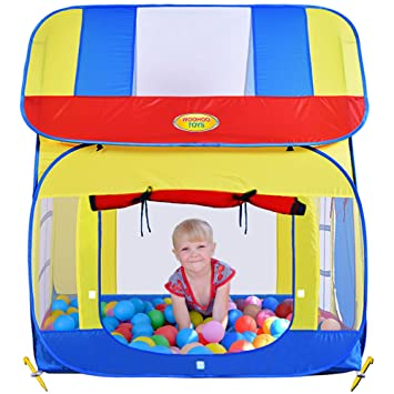 Big Children Playhouse Pop-Up Play Tent for Boys or Girls to Use Indoor or  sc 1 st  Amazon.com & Amazon.com: Big Children Playhouse Pop-Up Play Tent for Boys or ...