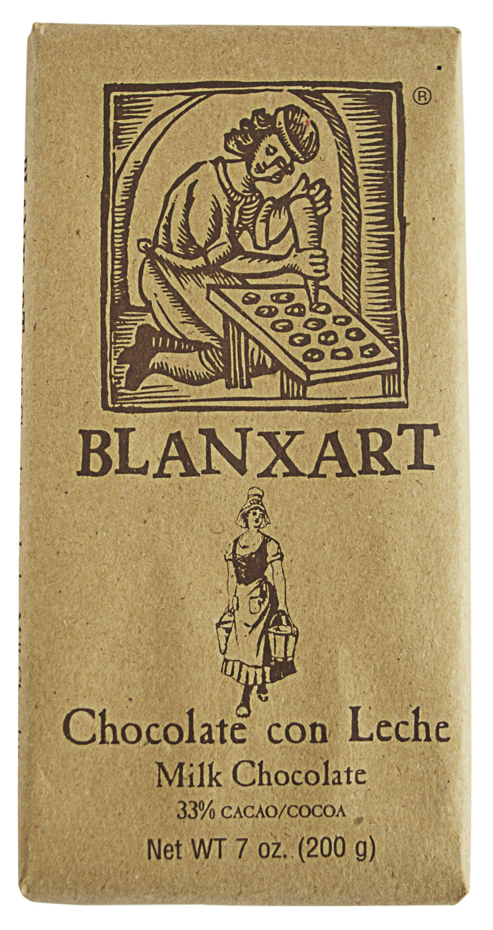 Blanxart Milk Chocolate Bar, 7.05 oz