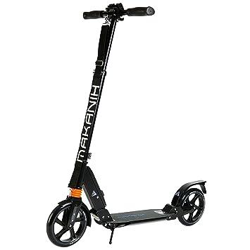 Makanih® - Patinete para adultos, patinete con doble suspensión y ruedas extra grandes de 205 mm - adecuado para niños a partir de 12 años