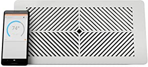 """Flair Smart Vent, Smart Vent for Home Heating and Cooling. Compatible with Alexa, Works with ecobee, Honeywell Smart thermostats, and Google Assistant. Requires Flair Puck. (4"""" x 12"""") (Renewed)"""