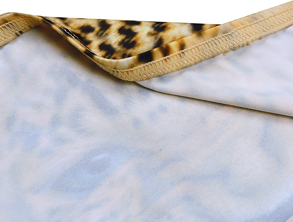 inlzdz Mens 3D Wolf Leopard Print Bulge Pouch Bikini Briefs Funny Panties Lingerie Underwear