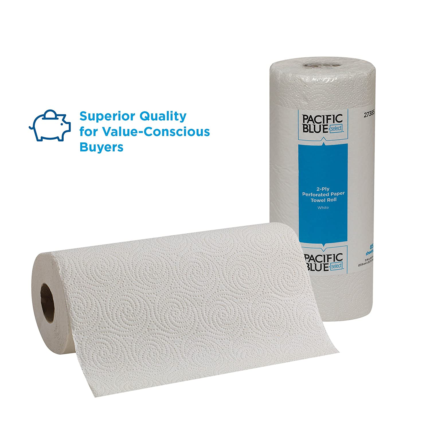 amazoncom pacific blue select 2 ply perforated paper towel roll previously branded preference by gp pro white 27385 85 sheets per roll 30 rolls per - Paper Towel Roll