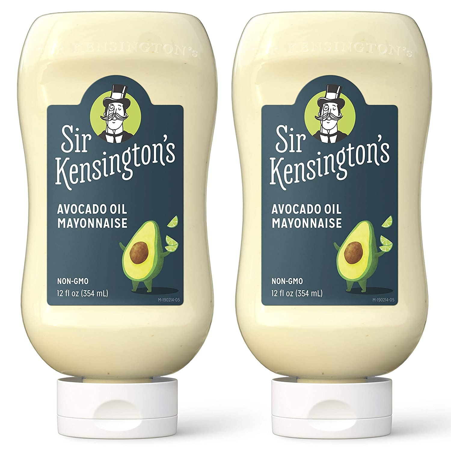Sir Kensington's Mayonnaise, Avocado Oil Mayo, Keto Diet & Paleo Diet Certified, Gluten Free, Certified Humane Free Range Eggs, Shelf-Stable, 12 oz (Pack of 2)