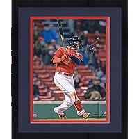 "$189 » Framed Alex Verdugo Boston Red Sox Autographed 16"" x 20"" Hitting Photograph - Autographed MLB Photos"