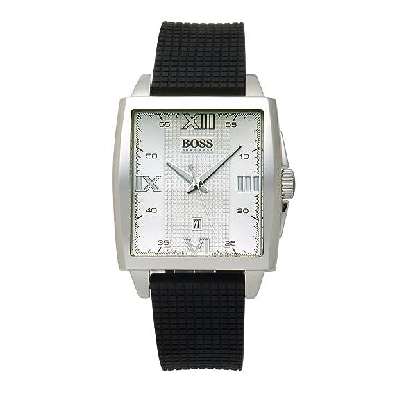Hugo Boss Boss Black - Reloj analógico de caballero de cuarzo con correa de goma negra