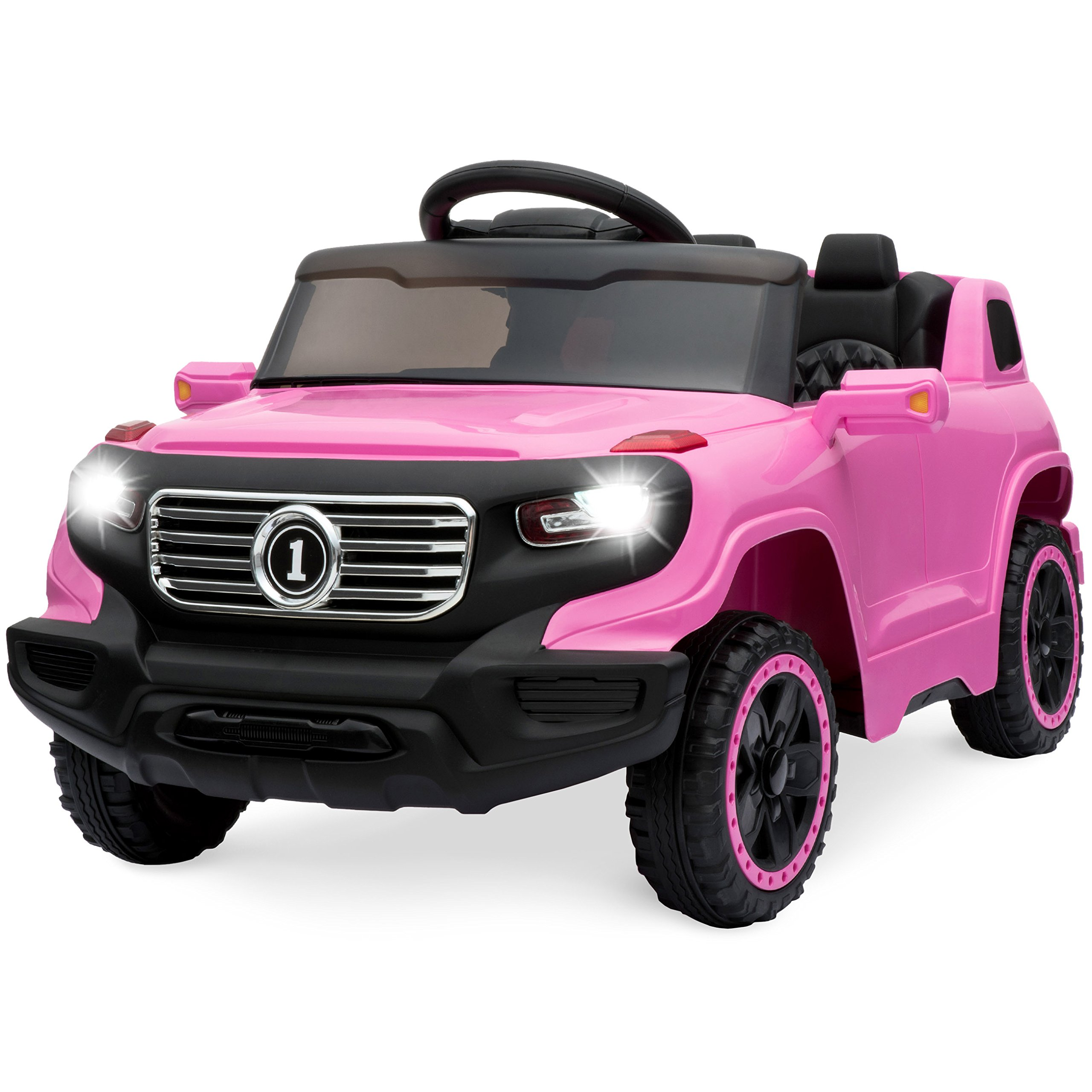 Best Choice Products Kids 6V Ride-On Truck with 30M Remote Control, 3 Speeds, LED Lights, Pink