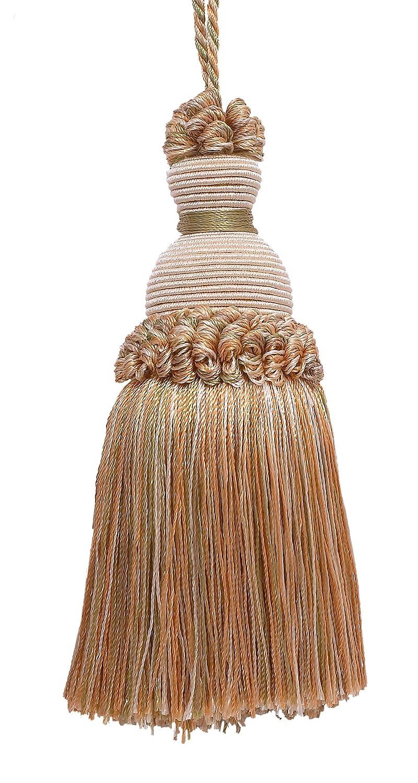 décoratifs 12,7cm Key Tassel, LT Peach, Ivoire Beige, pêche clair et vert olive clair Imperial II Collection Style # Iktj Couleur: Prairie Pêche–3853 DecoPro