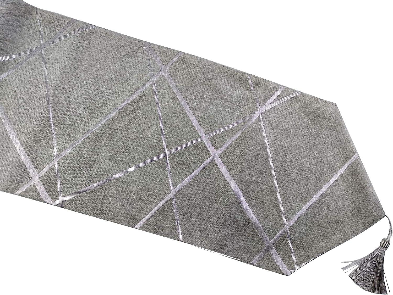 HoliSelear Multi-Size Chenille Animer and 5 popular price revision Stripe Ultra Table Runner Soft 10