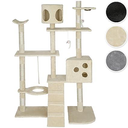 TecTake Rascador para gatos Árbol para gatos Sisal Juguetes 167cm - disponible en diferentes colores -