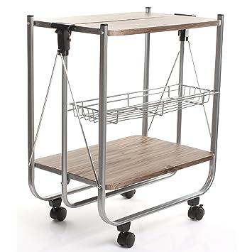 Mobile Carrello Carrello da cucina pieghevole su rotelle: Amazon ...