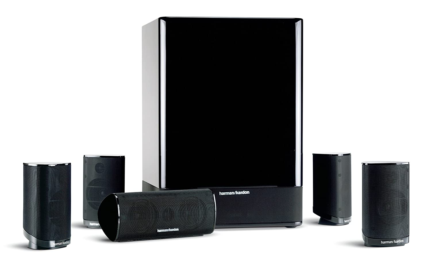harman kardon hkts 15 5 1 high performance 6 piece home theater speaker ebay. Black Bedroom Furniture Sets. Home Design Ideas