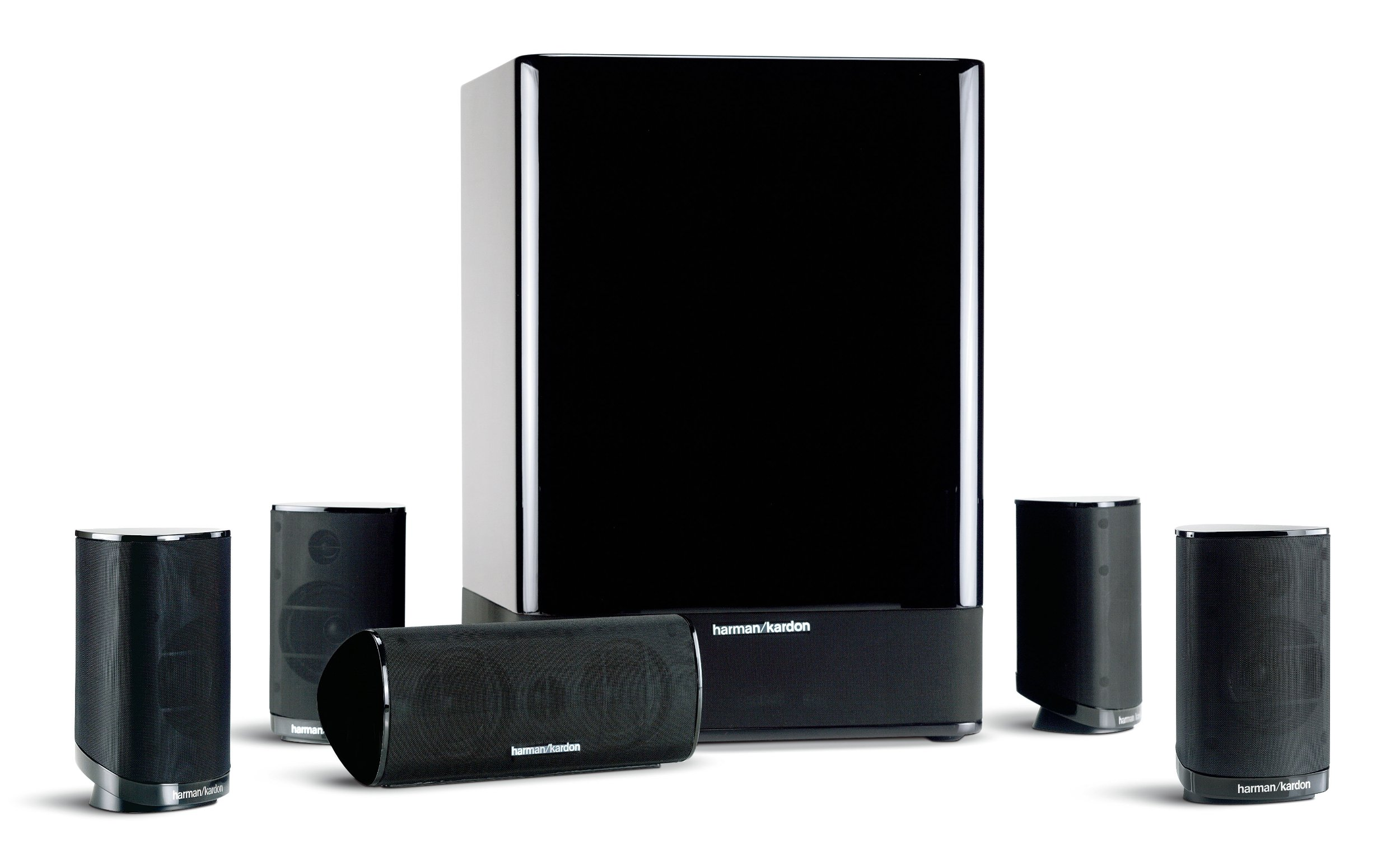 Harman Kardon HKTS-15 5.1 High-Performance, 6-Piece Home Theater Speaker System (Black Gloss) (Discontinued by Manufacturer) by Harman Kardon