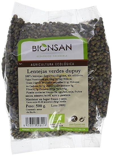 Bionsan Lenteja Verde Dupuy - 6 Paquetes de 500 gr - Total: 3000 gr