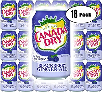 Amazoncom Canada Dry Ginger Ale Blackberry 12oz Can Pack Of 18