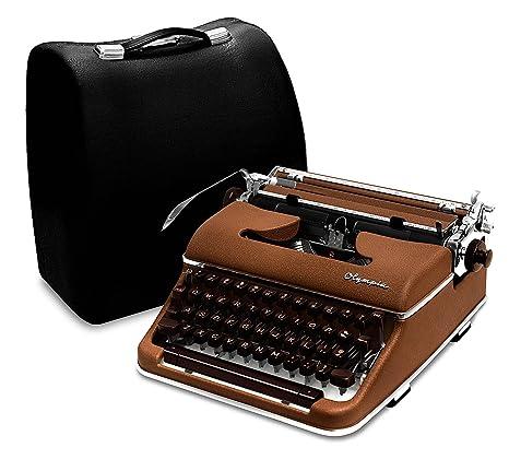 Olympia máquina de escribir 1959 SM4 S (raro cursiva/Script letra) marrón professionally