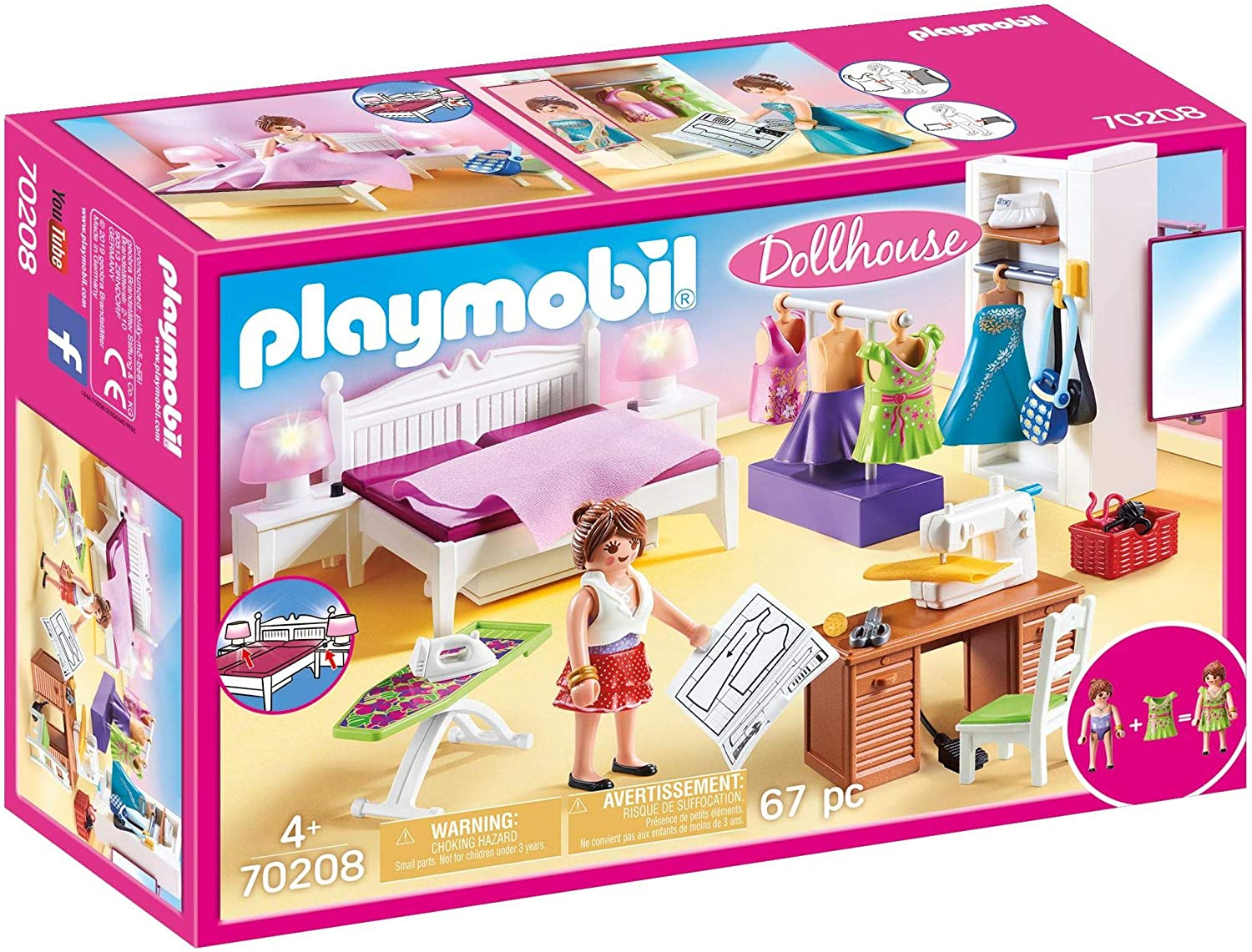 Playmobil Bedroom with Sewing Corner Furniture Pack