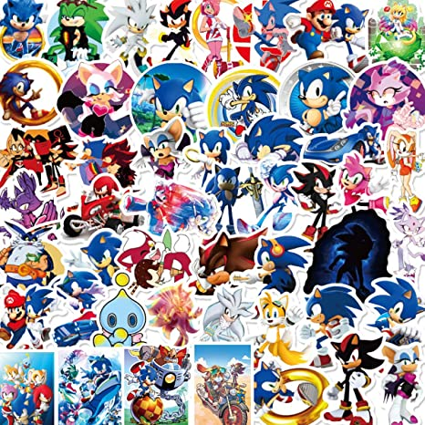 Amazon Com Batter Sonic The Hedgehog Sticker Waterproof Vinyl Stickers Car Sticker Motorcycle Bicycle Luggage Decal Graffiti Patches Skateboard Water Bottle Sticker Arts Crafts Sewing