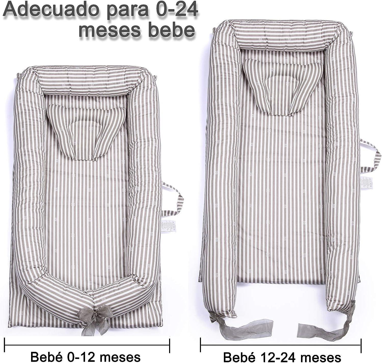 0-24 meses Beb/é Cuna Sue/ño Algod/ón 100/% con Almohada 48 x 82.8cm Nido de Beb/é Dormir Recien Reci/én Nacido Mooedcoe Cama Tumbona de Beb/é Port/átil de Viaje Respirable
