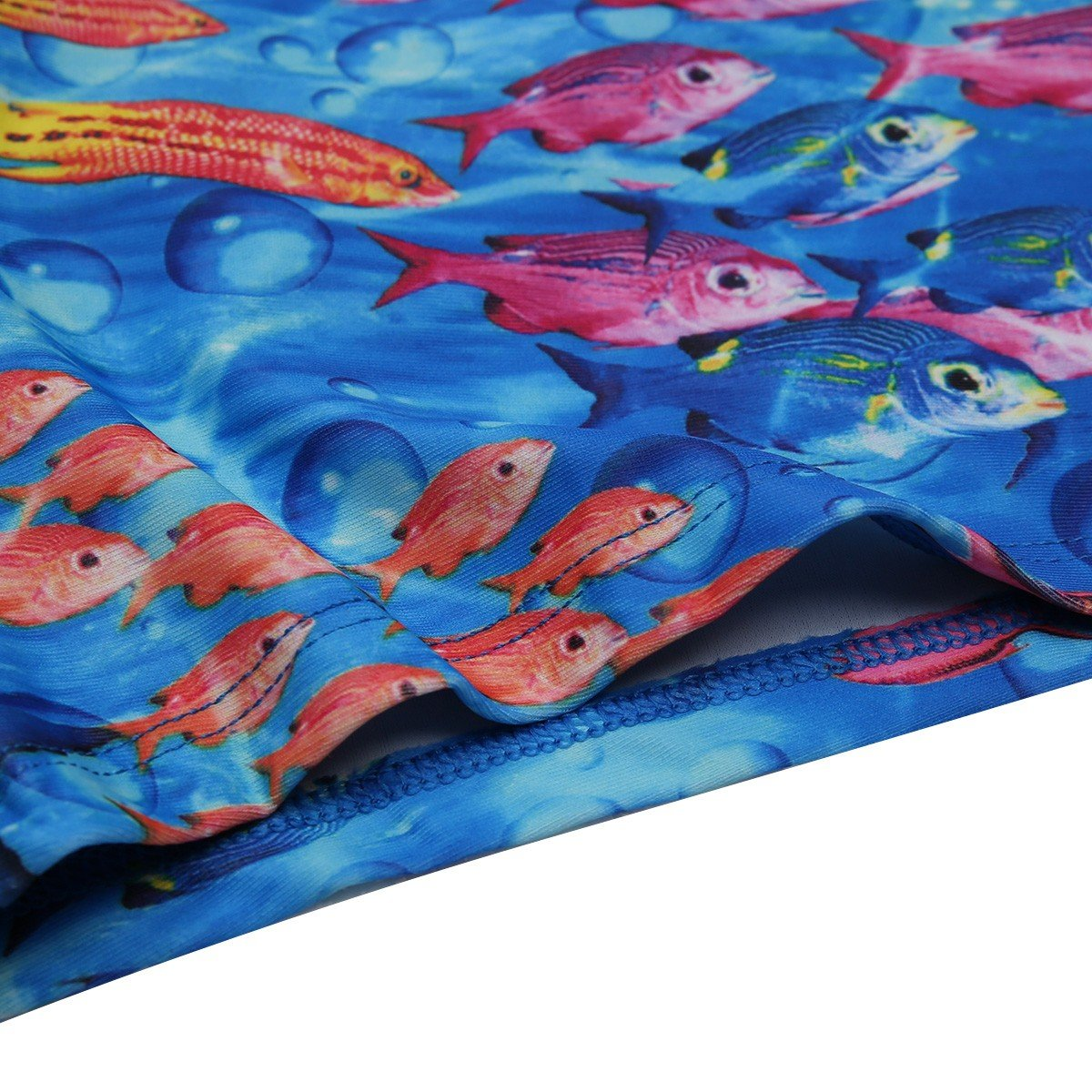 FEESHOW Boys Swimming Trunks Cute Sea-Fish Pattern