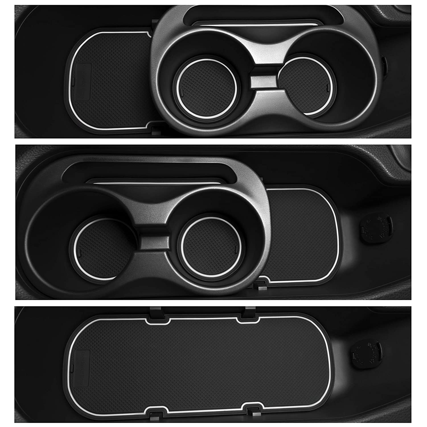 Custom Fit Cup Door Console Liner Accessories Kit for BRZ 86 FR-S 2019 2018 2017 2016 2015 2014 2013 Subaru Toyota Scion 9PC Set Solid Black