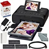 Canon SELPHY CP1300 Compact Photo Printer (Black) with WiFi and Accessory Bundle w/ Canon Color Ink and Paper Set