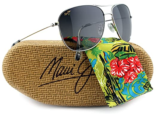 0a96815527 Maui Jim MJ-247-17 Cliff House Sunglasses Silver w  Neutral Gray GS247 17  59mm Authentic  Amazon.co.uk  Clothing