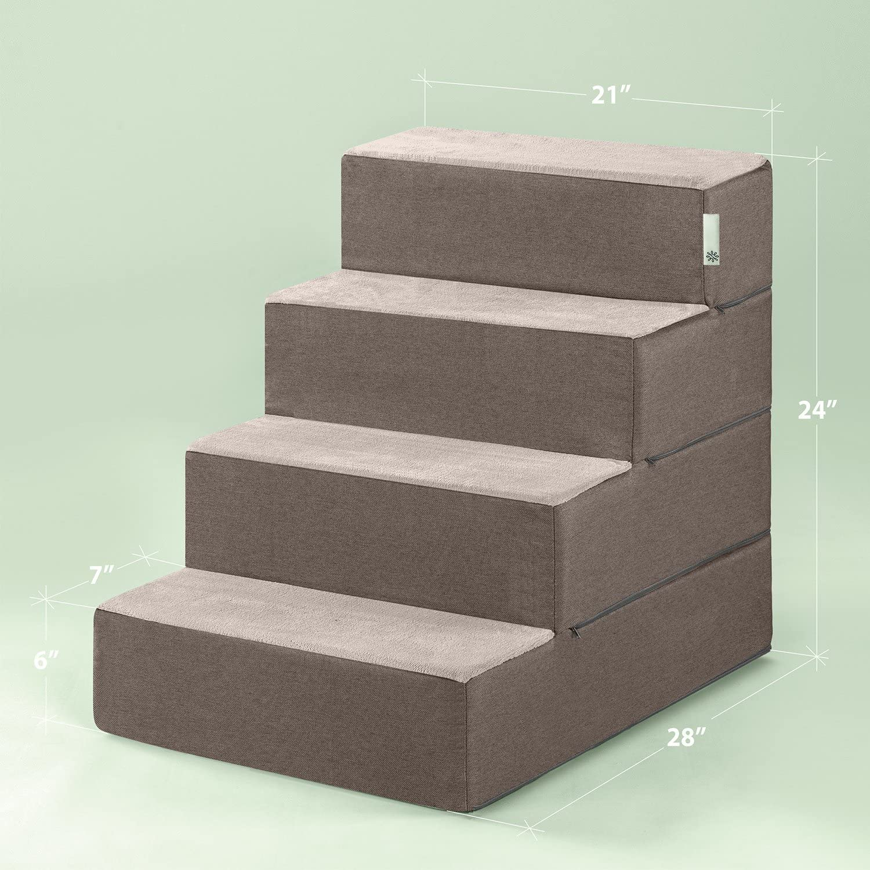 Large Zinus 4 Step Easy Pet Stairs//Pet Ramp//Pet Ladder//Sand