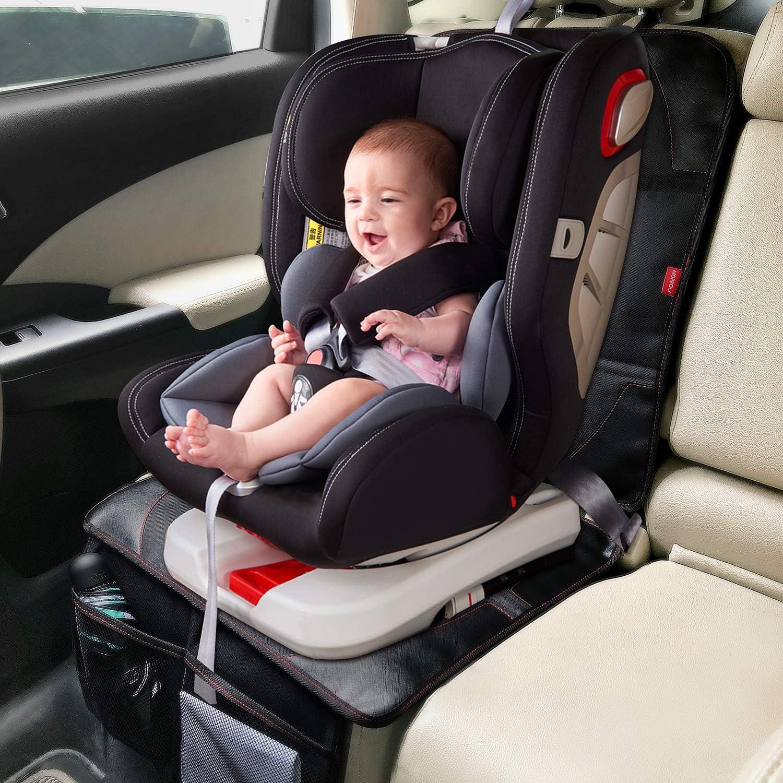 Morrols Protector asiento coche Negro, 2 PACK Protector asiento coche ni/ños Protector asiento de coche de Desde Manchas y Da/ños y Estera del Perro,Impermeable Limpieza Facil