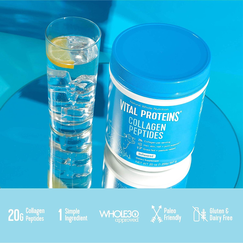 Vital Proteins Unflavored Collagen Peptides, 20 oz with Bovine Hide  Collagen Peptides