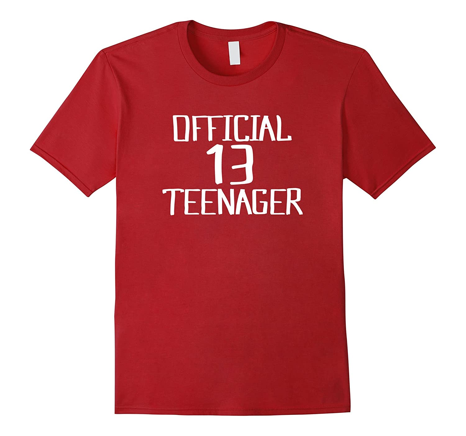 Official Teenager 13 Thirteenth Birthday Tshirt Boy