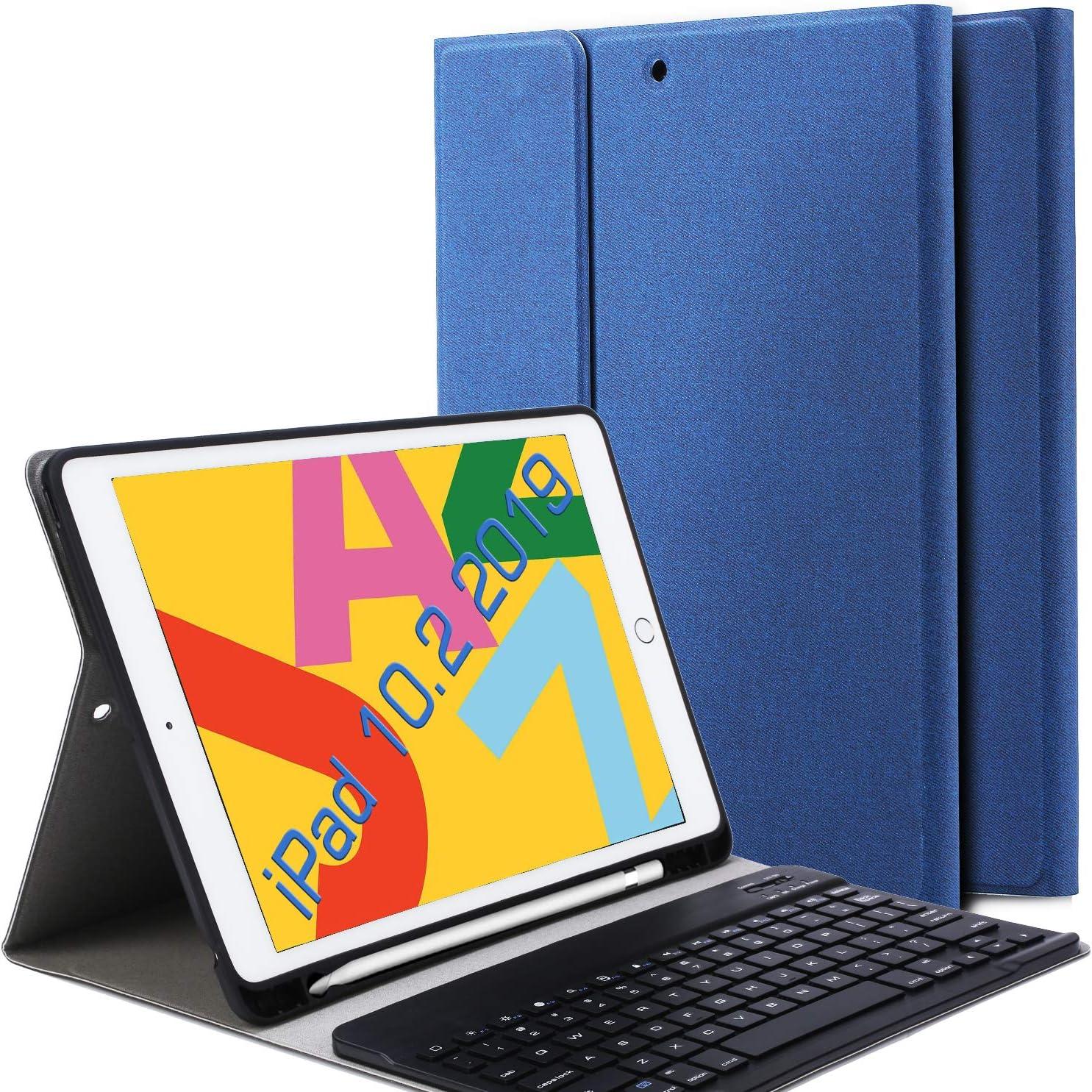 Funda con teclado para iPad 10.2 2019 TouchPad