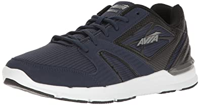 AVIA Mens Avi-Edge Cross-Trainer Shoe Black/Iron Grey 8 4E US