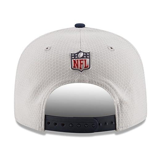 7596404b9abb2 Amazon.com   New Era 9Fifty Hat New England Patriots Sideline 17 On Field Adjustable  Snapback Cap   Sports   Outdoors