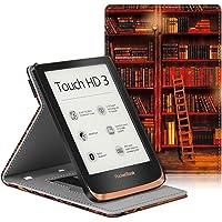 Fintie Hoes voor Pocketbook Touch HD 3/Touch Lux 4/Basic Lux 2 E-Reader ¨C Premium PU Leer Beschermende Cover met…