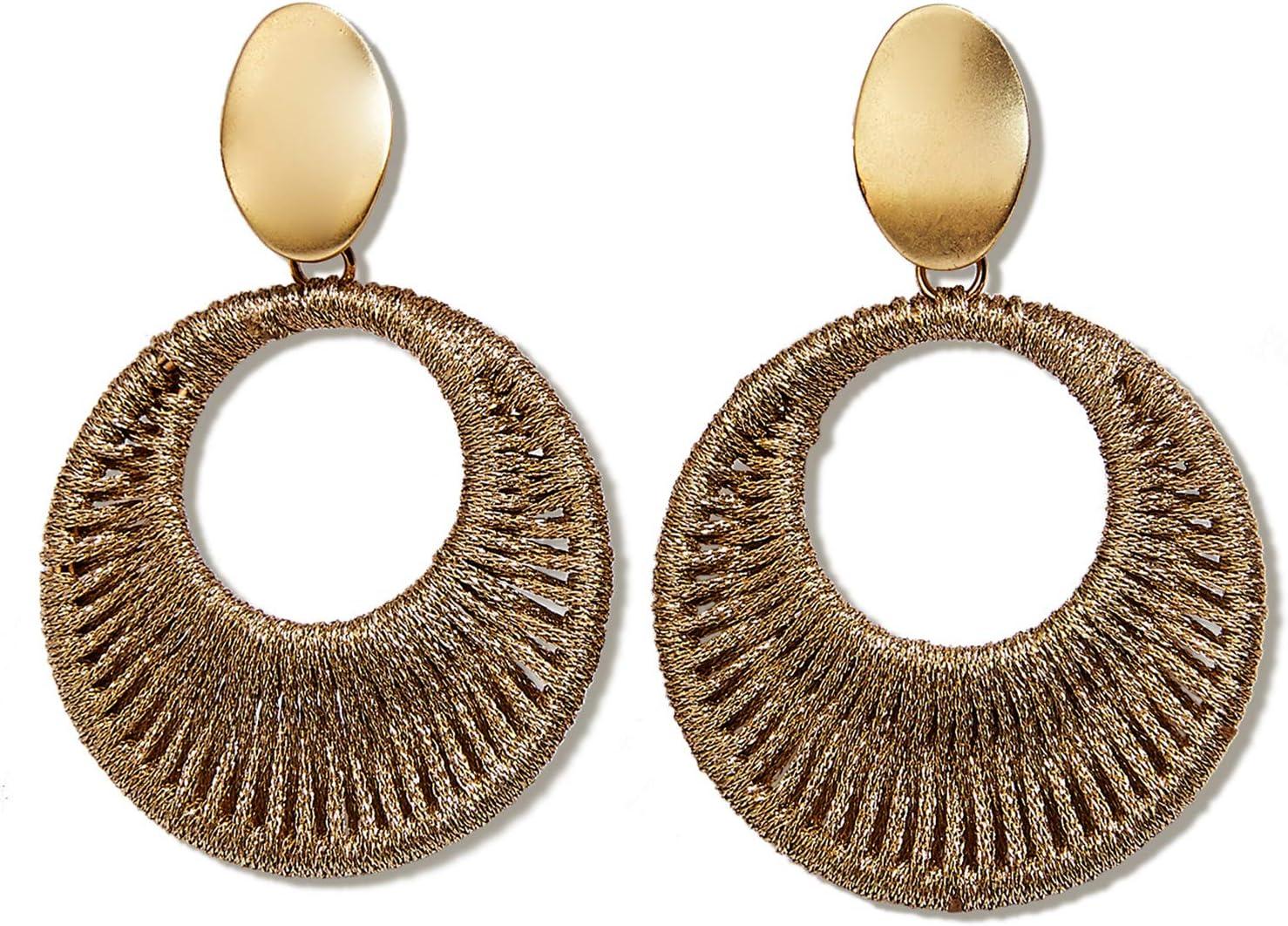 Threader Earrings Handmade from Wood and Resin