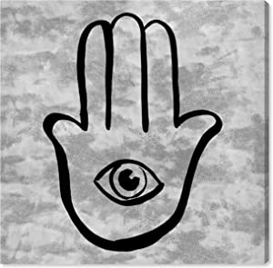 The Oliver Gal Artist Co. Symbols and Objects Wall Art Canvas Prints 'Hamsa Velvet Light' Home Décor, 30