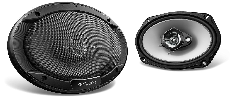 Kenwood Haut parleurs Elliptiques 3 Voies 15 x 23 cm Noir JVCKenwood KFC-S6966