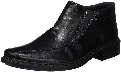 14152, Botas de piel para hombre, Negro (schwarz/01), 46 EU Rieker