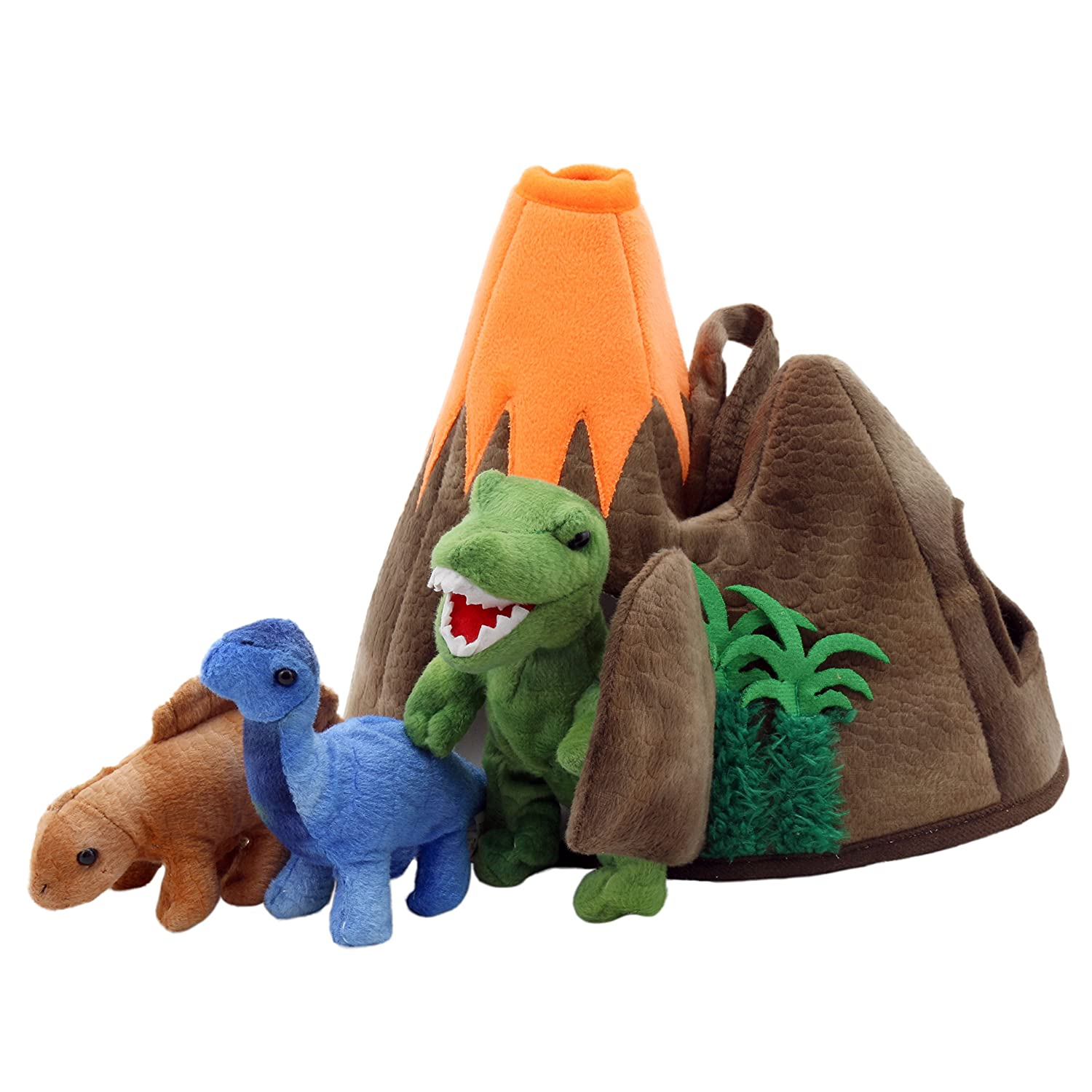 Hide Away Puppets Dinosaur Volcano The Puppet Company