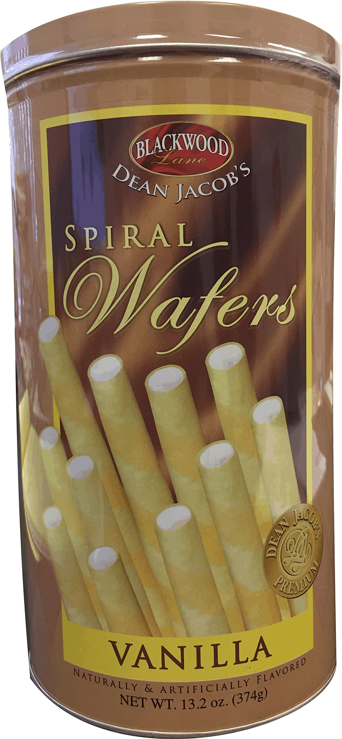 Dean Jacob's Blackwood Lane Vanilla Spiral Wafers (Pack of 3)